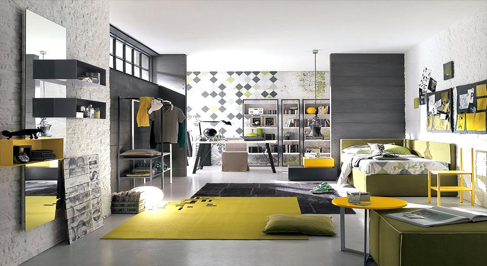 La camera a misura del teenager arredamenti mantova - Camere per teenager ...